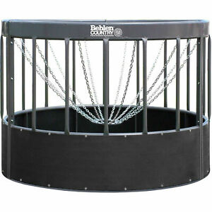 Haysmart Round Bale Feeder For Horses 96 l X 96 w X 72 h Gray Lot Of 1
