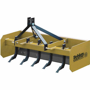 5 Heavy Duty Box Blade Tractor Attachment 5 Shank Category 1 Lot Of 1