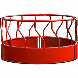 Super Duty Bale Feeder With S bar 96 l X 96 w X 51 1 2 h Red Lot Of 1