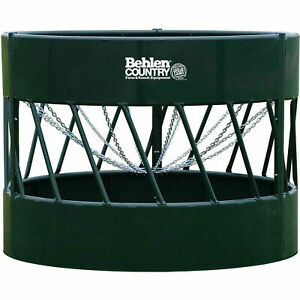 Haysmart Round Bale Feeder For Cattle 96 l X 96 w X 72 h Green Lot Of 1