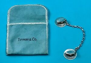 Tiffany Co Vintage Authentic Sterling Silver Baby Bib Clip Holder W Pouch