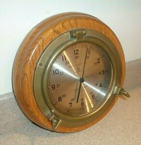 Vintage Bell Clock Co Ships Clock With Quartz Movement U S A