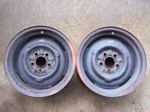 Mopar 340 Duster Dart 14 X 5 1 2 J Small Bolt Pattern Steel Wheels Rims 1970