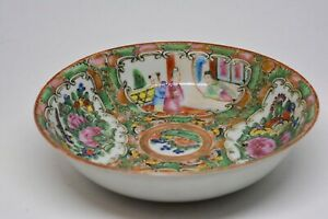 Antique Chinese Export Rose Medallion Bowl 5 5 Inches Wide And 1 25 Tall