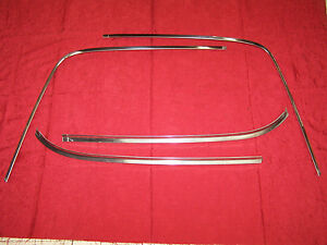 Mopar 66 67 B Body Rear Window Trim Sedan 2 Door Post Coronet Belvedere