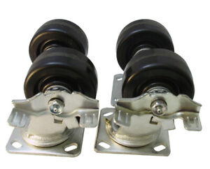 4plnset 4 Caster Set With Braked For Lincoln Impinger Ovens 3200 Lbs Capacity