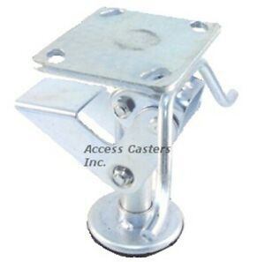 4pstfl 4 Floor Lock With Handle Foot Operated 3 15 16 X 4 1 2 Plate