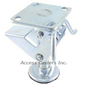 5pstfl 5 Floor Lock With Handle 3 15 16 X 4 1 2 Plate Foot Operated