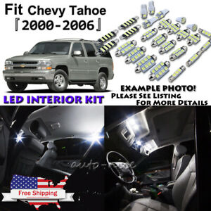 20x White Led Interior Lights Package Kit For 2000 2004 2005 2006 Chevy Tahoe