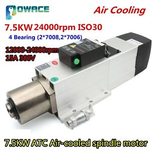 7 5kw Automatic Tool Changer Atc Air Cooled Spindle Motor 380v 24000rpm Iso30