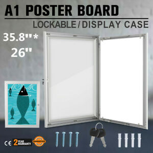A1 Outdoor Lockable Display Case Box Poster Menu Holder Notice Board