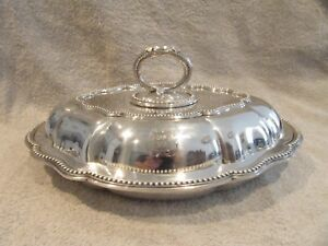1864 English Sterling Silver Large Covered Vegetable Dish Pearls 1559g 55oz