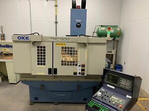 Okk Trc500 43 3 x 20 4 Table 3 axis Cnc Router Or Vmc W fanuc 16 m Control 1997