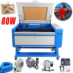 80w Co2 Laser Cutter Engraver Machine 700 500mm Usb Interface Cnc Rotary Axis