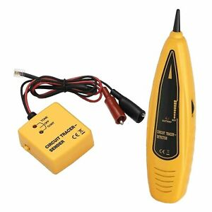 Wire Tracer Circuit Tester With Rj 11 Plug And Alligator Clips tone And Pr