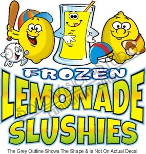 Frozen Lemonade Slushies Concession Trailer Food Truck Ice Cream Cart Sign Decal