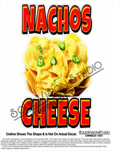 Nachos Cheese Concession Vending Food Truck Menu Pop Sign Weatherproof Decal
