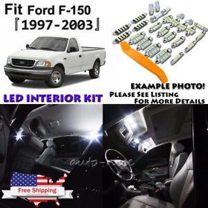 12x White Led Interior Lights Package Kit For 1997 2002 2003 Ford F150 Tool