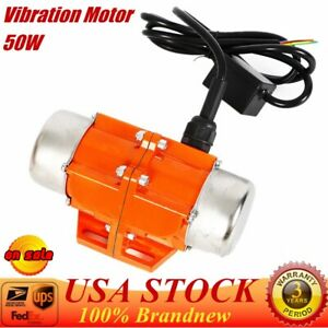 50w Vibration Motor 110v Ac Industrial Vibrator Single Phase For Vibrating Sieve