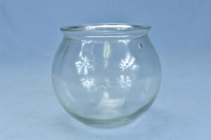 Antique Drug Store Pharmaceutical Apothecary Jar Glass Candy Bowl Old 04536