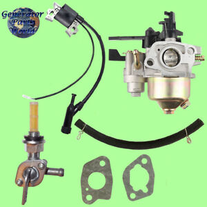 Steele Carburetor W Shutoff Right Petcock Coil For Sp wg320 3200 Pressure Washer