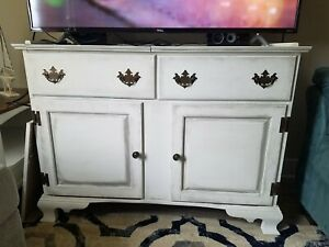 Antique Sprague Carleton Dry Sink Tv Stand Entry Buffett Table