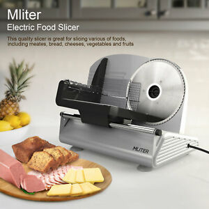 Electric Food Slicer 7 5 Blade Electric Meat Slicer Cheese Deli Meat Food Cutt