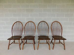 Habersham Set Of 4 Hoop Back Windsor Style Side Chairs
