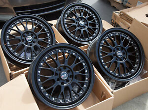 Used Xxr 521 17x7 4x100 114 3 38 Black Rims Fits Accord Integra Civic Mini
