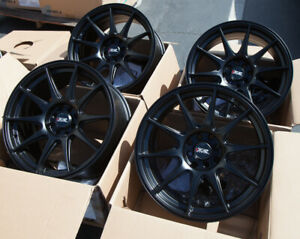 Used 17x8 25 Xxr 527 4x100 114 3 25 Black Rims Fits Civic Ef Ek Eg Miata Mr2