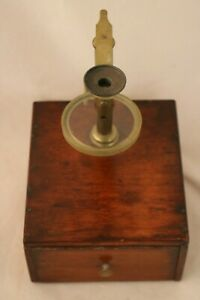 Antique Naturalist S Portable Field Microscope W Specimens