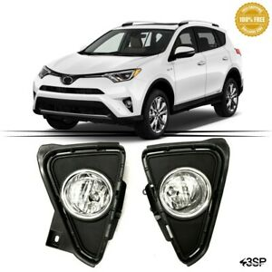 Kit Fog Lights Clear Lens Front Driving Lamps For 2001 2002 Toyota Corolla