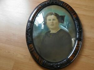 Walnut Convex Glass Frame With Photograph