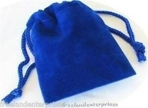 Jewelry Pouch Velour velvet Type Pouch Lot Of 5 Blue Color