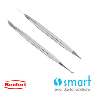 Dental Lab Renfert Ergo Ceramic Porcelain Modeling Instrument Double Sided 2 Pcs