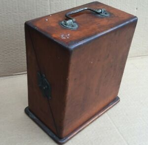 F Gotto 1888 Antique Vintage Quack Medical Dry Cell Shock Box Great Patina