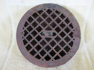 Antique Round Heat Register Grate Cast Iron Old House Salvage Barn Rescue