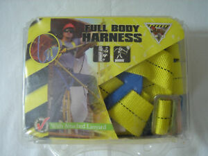 Mccordick Full Body Harness With Attached Lanyard New