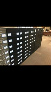 8 dr Index File Cabinets For Tools Ball Cards etc
