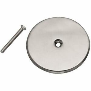42784 Stainless Rough Plumbing Steel Cover Plate 8 inch Fixture Repair Supplies