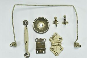 Antique Mixed Lot Of 7 Hoosier Hardware Ant Trap Hinges Latches Handle 06971
