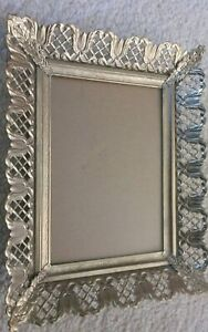 Vintage Gold Metal Picture Frame 7x9 Frame 5x7 Picture Ormolu Openwork Filigree