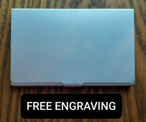 Free Engraving personalized Business Card Case Holder Metal Aluminum