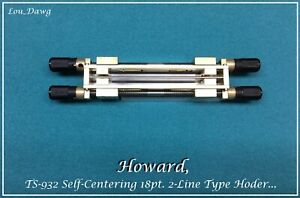 Howard Personalizer ts 932 Selfcentering Typeholder Hot Foil Stamping Machine