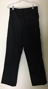 Dickies Chef Pants Unisex Black Straight Leg Durable Dc223 Sz S New