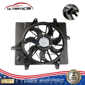 New Radiator Cooling Fan Motor Assembly For 01 05 Chrysler Pt Cruiser Non turbo