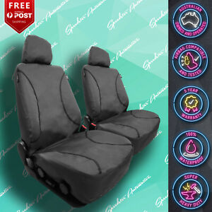 For Ford Falcon Ute Strong Canvas All Over Waterproof Grey Car Front Seat Cover