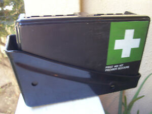 Mercedes Vintage German First Aid Kit With Mounting Holder Bracket