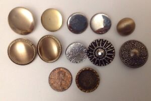 Lots Of Vintage Mix Metal Buttons