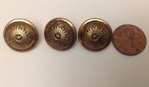Lots Of Vintage Gold Tone Star Metal Buttons